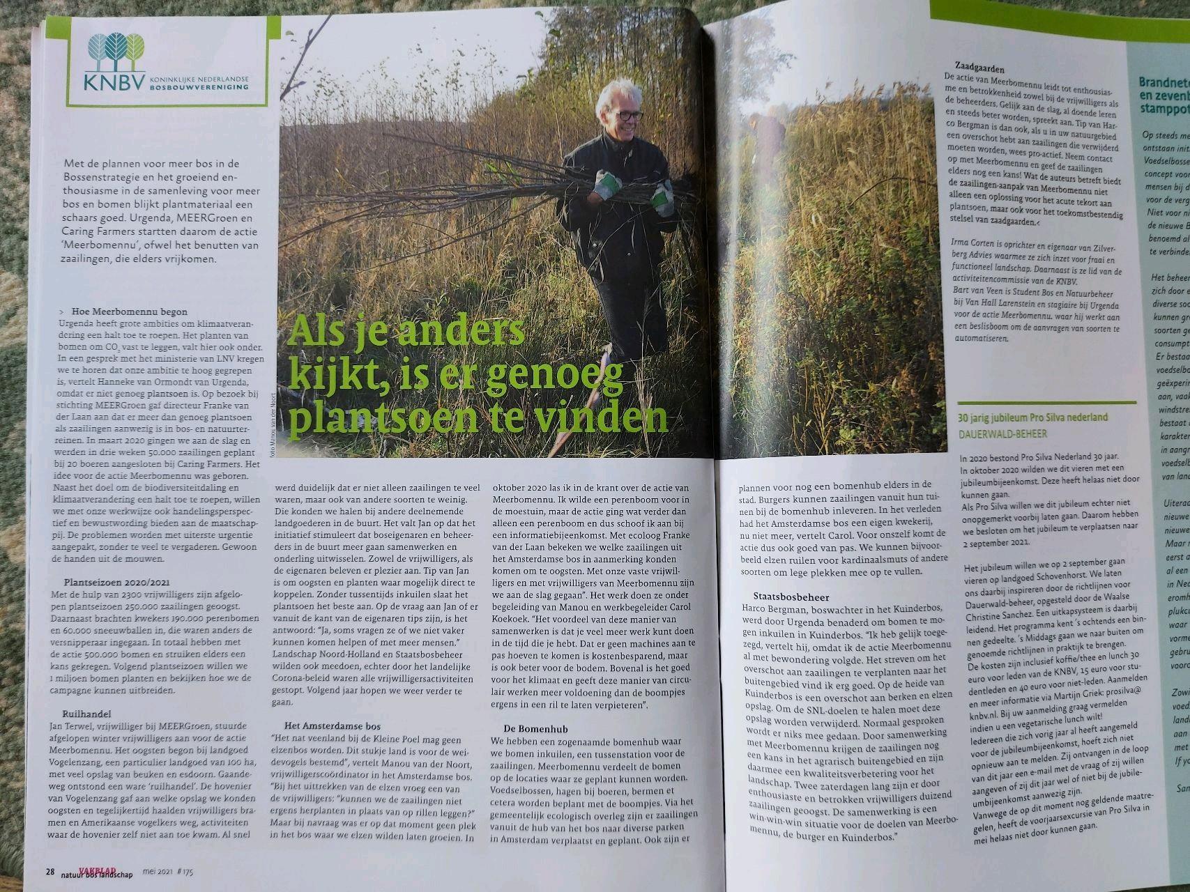 Vakblad Natuur, bos en landschap, mei 2021
